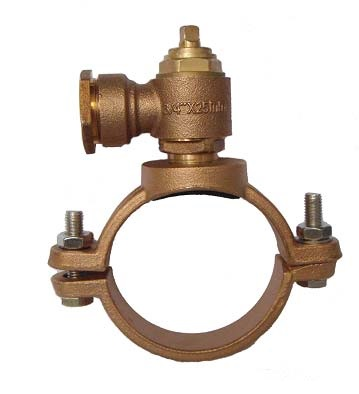 Bronze Saddle Clamp với ferrules
