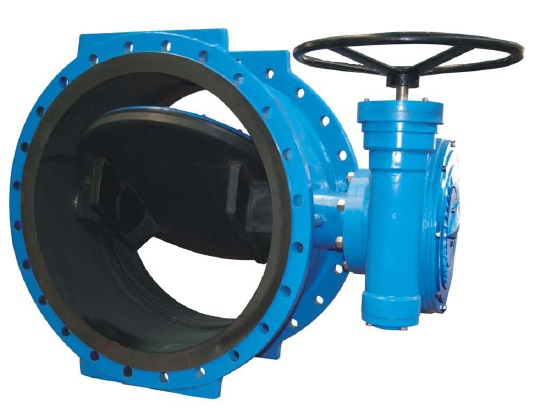 Double Eccentric Double Flanged Butterfly Valves-Rubber Lined
