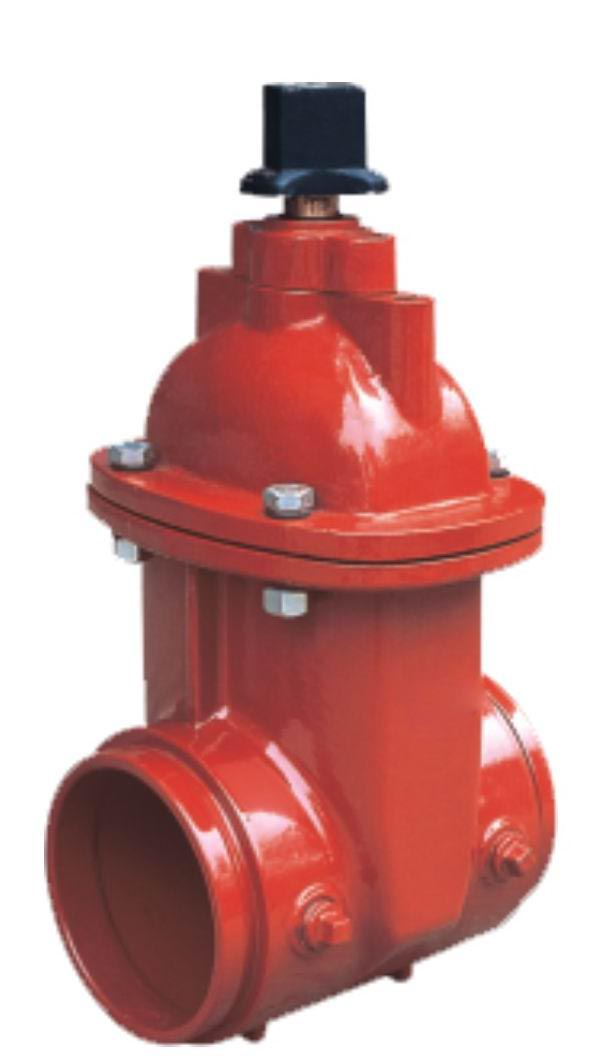 Grooved Ends NRS Resilient Seated Gate Valves-AWWA C509-UL FM Approval
