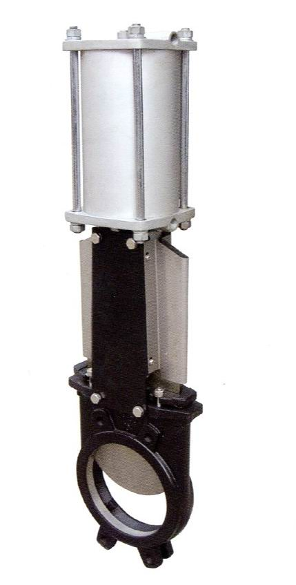 Pneumatic Wafer Type Rising Stem Knife Gate Valves