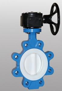 PTFE PFA Lined Butterfly valve
